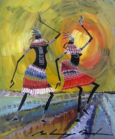 Inside African Art Home Page - Online Home for Original African Paintings