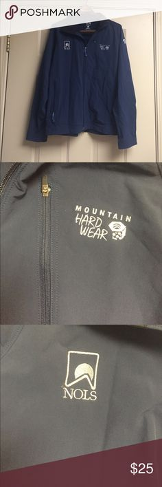 Mountain Hard Wear jacket Shell 91% nylon,9% elastane, lining 100% polyester.  Perfect condition! Mountain Hard Wear Jackets & Coats Lightweight & Shirt Jackets