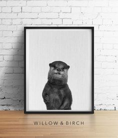 Printable Art OTTER Print Nursery Baby by WillowandBirchPrints