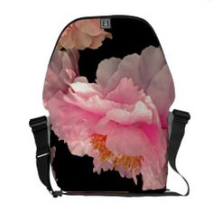 Pas de Deux Peony Gorgeous Floral Messenger Bag