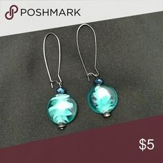 Earrings Turquoise blue colored stone Jewelry Earrings