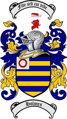 HOLMES FAMILY CREST - COAT OF ARMS gifts at www.4crests.com