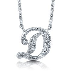 """BERRICLE Sterling Silver CZ Personalized Initial Letter """"""""D"""""""" Pendant... ($49) ❤ liked on Polyvore"""