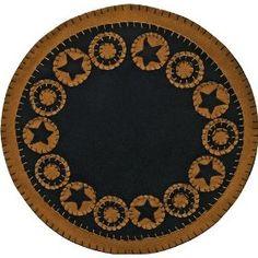 Black Star Folk Art Penny Mat $20.99