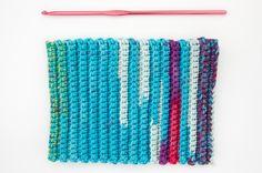 VIDEO: Como tejer a crochet punto elástico en medio punto