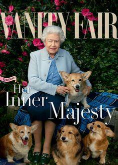 vanity fair queen elizabeth | Queen Elizabeth II Takes Her Love for Corgis on the Cover of Vanity ...