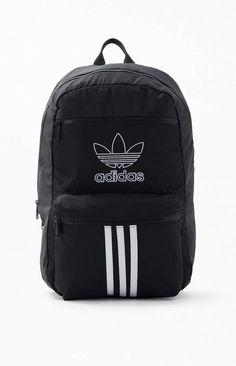 Striped Backpack, Men's Backpack, Black Adidas, Adidas Men, Colorful Backpacks, Swim Shop, Black And White Man, Adidas Logo