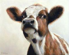 Sold   Dina the Calf, oil/panel 8 x 10 inch (20 x 25 cm) © 2013 Klimas