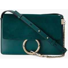 Chloé Small Teal Green Faye Shoulder bag (125875 RSD) ❤ liked on Polyvore featuring bags, handbags, shoulder bags, green, man shoulder bag, purse shoulder bag, man leather shoulder bag, man bag and handbags shoulder bags