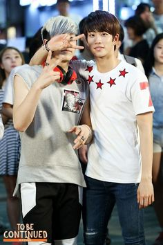 [24.08.15] JinJin e MyungJun nas gravações de To Be Continued