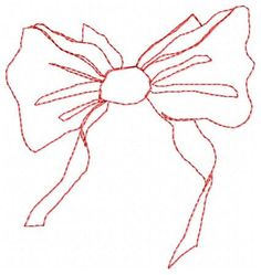 Bow Embroidery Design by JEmbroiderynApplique on Etsy