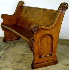 Really want to make a bed from church pews...