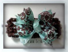 Baby hair bow Baby bow headband Baby flower headband by Cami08, $6.00
