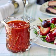 Roasted Red Pepper and White Balsamic Salad Dressing - it's back to healthier eating after vacation indulgence for me this week. I'm starting with a fat free salad dressing featuring the sweet roasted flavor of red pepper and the savory sharpness of white balsamic vinegar.