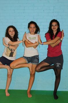 Group Tree Pose for kids