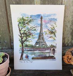 A personal favorite from my Etsy shop https://www.etsy.com/listing/251389891/signed-arno-paris-print-la-tour-eiffel