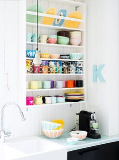 cooking in color. / sfgirlbybay - I am so jealous of that collection of moomin mugs, I only have one!