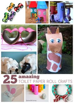 Such great ideas!  25 {Amazing} Toilet Paper Roll Crafts