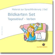 Tagesablauf - Verben - Bildkarten DaZ