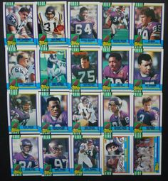 1990 Topps Minnesota Vikings Team Set 20 Football Cards #MinnesotaVikings Chris Doleman, Minnesota Vikings, Football Cards, Ebay, Soccer Cards