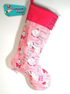 Disneys Marie Christmas Stocking w/Pink cuff and by BombshellDepot