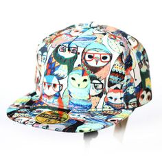 cfd2621d637 New Owl Snapback Men Women Bboy Hats Adjustable Korean Fashion Cap Style S-063