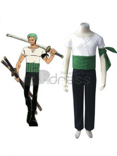 One Piece Roronoa Zoro Cosplay Costumes.