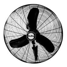 """View the Air King 9071 24"""" 5770 CFM 3-Speed Industrial Grade Wall Mount Fan at Air King @ VentingDirect.com."""