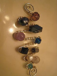 me made wire wrap decorative pin