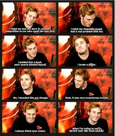 Sam Claflin on why he shouldn't be cast ever again. (gif)