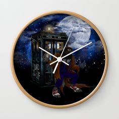 Werewolf 10th Doctor who Wall Clock @pointsalestore #society6 #Wallclock  #Painting #Digital #Oil #Acrylic #Watercolor #Streetart #Popart #Tardis #DoctorWho #Tardisdoctorwho  #Davidtennant #Badwolf #Werewolf #Horror #Scifi #Halloween #Scary #Ghost