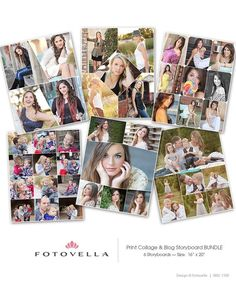 8 Best Print Collage Templates Images Photography Templates