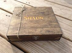 Groomsmen Gift Engraved Cigar Box Monogram Personalized Engraved Wooden Cigar Box