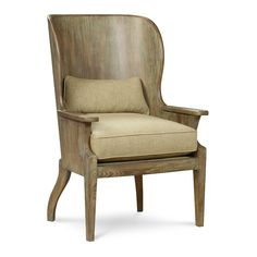 Wood Wing Chair by caracole