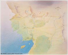 Map of Beleriand - John Howe