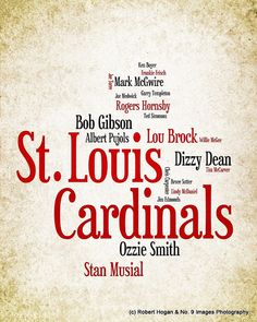 St Louis Cardinals  Greatest Baseball Players  8x10 by no9images, $15.00