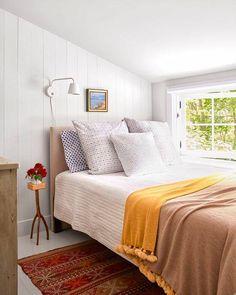 tiny light-filled bedroom