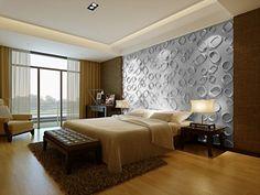 Chambre taupe t te de lit capitonn en cuir blanc et panneau mural original - Panneau mural capitonne ...
