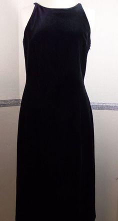 Shelli Segal Evening black dress size 8 elegant bow detail fitted bodice  #LaundryShelliSegal #BallGown #Cocktail