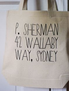 P. Sherman Finding Nemo tote disney pixar tote bag by rachelwalter