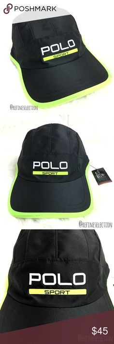 Polo Sport 7 Panel Black Strapback Dad Hat Cap Brand new with tags 26ad9babbd6b