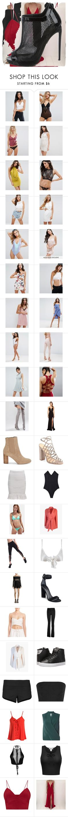 """Untitled #2101"" by bucketlistdiary on Polyvore featuring Glamorous, Y.A.S, Free People, NaaNaa, ASOS, Missguided, Seafolly, South Beach, Truffle and Faviana"