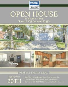 Open house 2/20 1PM-3PM, with scratch-off bouquet raffle! Come join me/contact me for more information 210-630-1526 www.allienaurealtor.com/