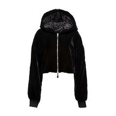 SIDELINE TRUCKER JACKET (1,685 BAM) ❤ liked on Polyvore featuring outerwear, jackets, hoodies, trucker jacket, drawstring jacket and shiny jacket