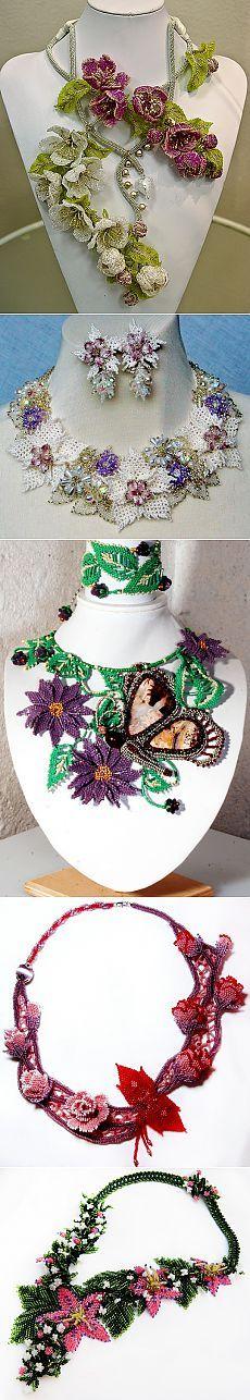 Красивая украшения с цветами | Бусы Магия