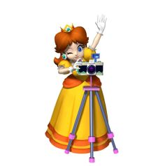 daisy taking a pic. Super Mario Run, Super Mario Party, Mario Bros., Mario And Luigi, Mario Kart Characters, Super Princess Peach, Princesa Daisy, Daisy Drawing, Marvel Cartoon Movies