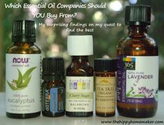 Which Essential Oil Companies Should YOU Buy From? My surprising findings on my quest to find the best