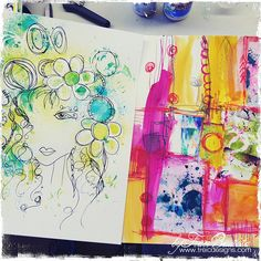 artJOURNALING daily: AUGUST journal pages - creativityUNLEASHED by traci bautista