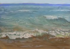 Rushing to Shore Painting 48 - Pastel by Joanne Labato Stone