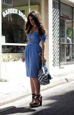"""FIRA""midi dress by Karavan, clothing for the wanderers"